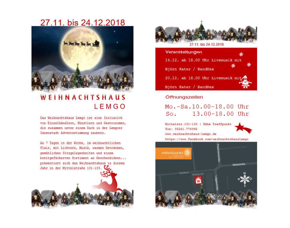 Flyer Weihnachtshaus