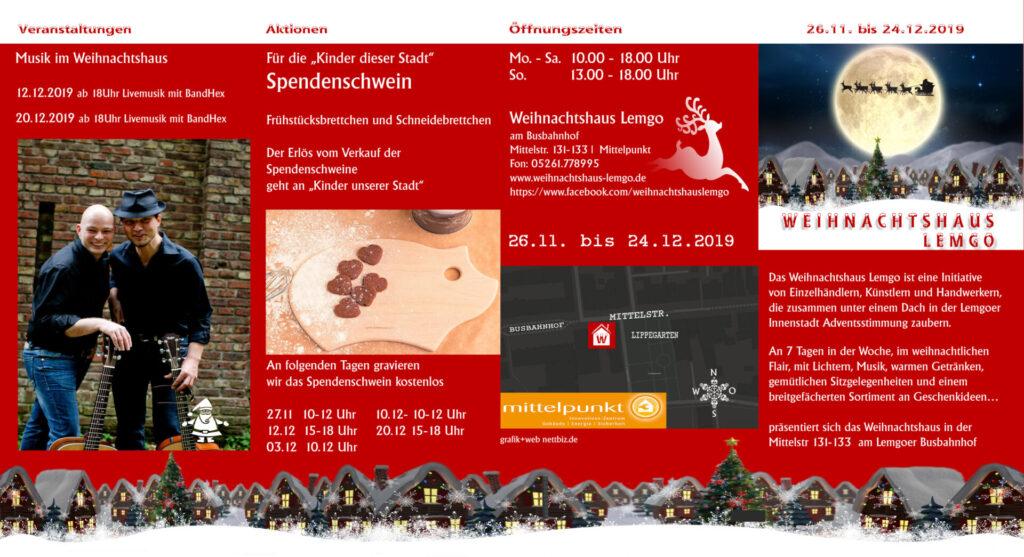 Flyer Weihnachtshaus 2019 Lemgo 1
