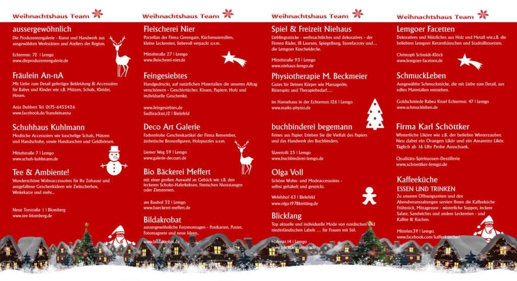 Flyer Weihnachtshaus 2019 Lemgo 2